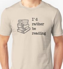 I'd rather be reading Slim Fit T-Shirt