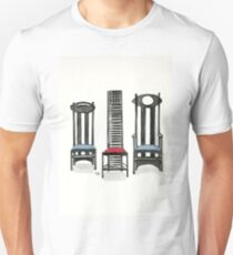 Argyle Chair- Hill House Chair And Argyle Carved Chair By Charles Rennie Mackintosh. T-Shirt