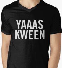 YAS KWEEN Men's V-Neck T-Shirt
