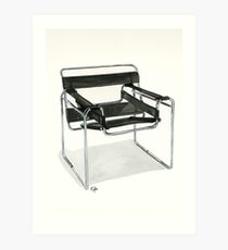 Wassily Model Chair  No. B3 - Watercolor painting  Art Print