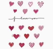 Cute Hearts by Anastasiia Kucherenko