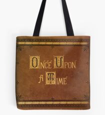 Once Upon A Time - Large Text Cover Tote Bag
