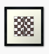 Melting chocolate chess Framed Print