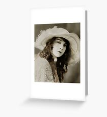 Miss Gish in a Floppy Hat Greeting Card