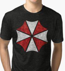 Resident Evil Umbrella Typography Tri-blend T-Shirt