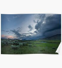 Storm over Lamar Valley, Yellowstone Poster