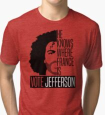 Vote For Jefferson Tri-blend T-Shirt