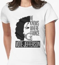 Vote For Jefferson Womens Fitted T-Shirt