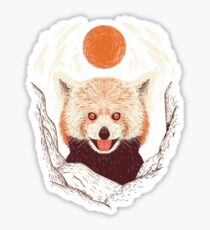Red Panda on a Sunny Day Sticker