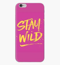Stay Wild - Pink & Yellow iPhone Case