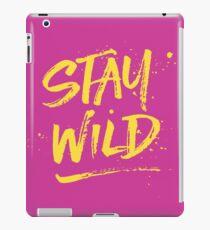 Stay Wild - Pink & Yellow iPad Case/Skin