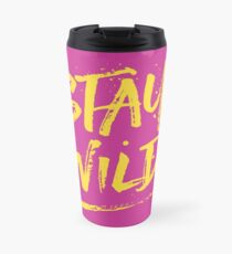 Stay Wild - Pink & Yellow Travel Mug