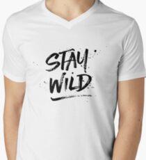 Stay Wild - Black Men's V-Neck T-Shirt