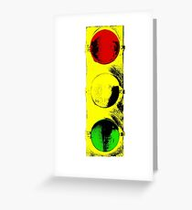 Street Light Clothing Greeting Card