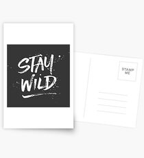Stay Wild - White Postcards