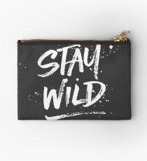 Stay Wild - White Studio Pouch