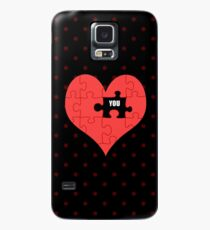 Heart Puzzle (black) Case/Skin for Samsung Galaxy
