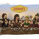 Xena and Friends at Denny's by Arkie Ring