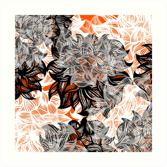 floral abstraction by HD Connelly