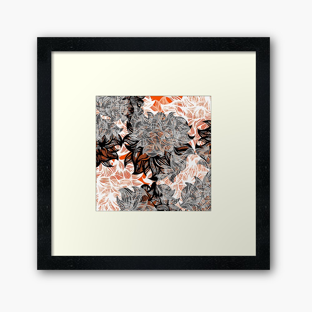 floral abstraction Framed Art Print