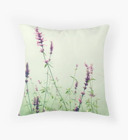Floral Mist  Throw Pillow