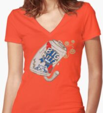Big Kitty's Finest Women's Fitted V-Neck T-Shirt