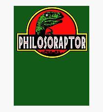 Philosoraptor Meme Funny Velociraptor Dinosaur T Shirt Photographic Print