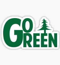 Go Green Tree Sticker