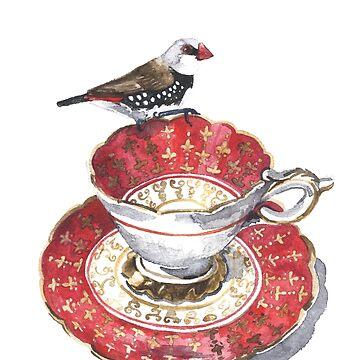 High Tea Diamond Firetail by desines