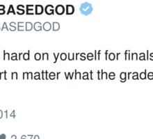 Lil B Tweet - finals Sticker