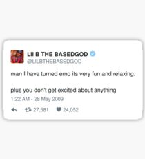 Lil B Tweet - emo Sticker