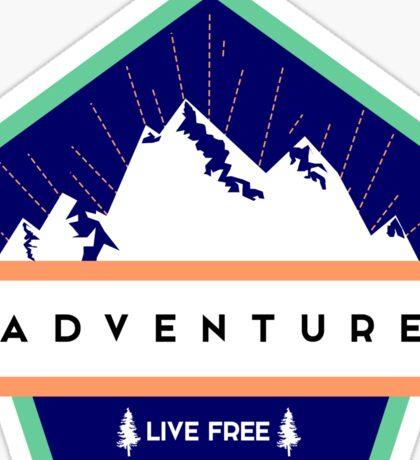 Adventure | Live Free Sticker