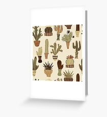 succulent plants and cactuses in pots Greeting Card