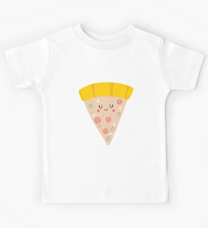 Cute funny smiling PIZZA slice Kids Clothes
