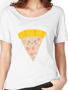 Cute funny smiling pizza slice Women's Relaxed Fit T-Shirt