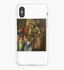 Thomas Edwin Mostyn - King Henry VII Fining the Citizens of Bristol Because Their Wives Were So Finely Dressed iPhone Case/Skin
