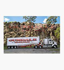 Gumdale Truck Trailer 2 Photographic Print