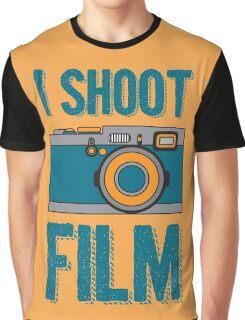 I Shoot Film - Vintage Camera Design Graphic T-Shirt