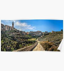 Bocairent from the hermitage path panorama  Poster