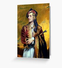 Thomas Phillips - Lord Byron in Albanian Dress Greeting Card