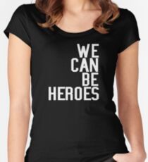 David Bowie We Can Be Heroes Tribute Charity Legend Women's Fitted Scoop T-Shirt