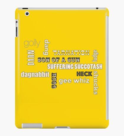minced oaths iPad Case/Skin