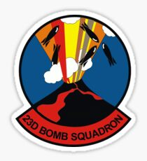"23d Bomb Squadron ""Bomber Barons"" Sticker"