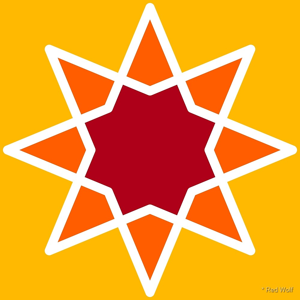 Geometric Pattern: Octagram: Sunshine by * Red Wolf