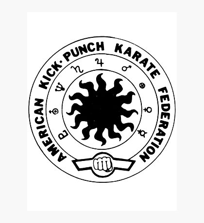 american kick punch karate federation Photographic Print