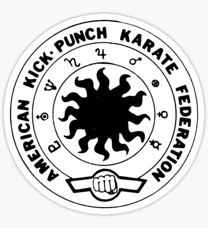 american kick punch karate federation Sticker