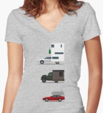 Motorhome challenge Women's Fitted V-Neck T-Shirt
