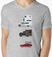 Wohnmobil-Herausforderung T-Shirt mit V-Ausschnitt für Männer