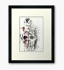 Bloody Skull Framed Print
