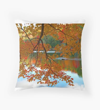 Fall in Quebec Throw Pillow